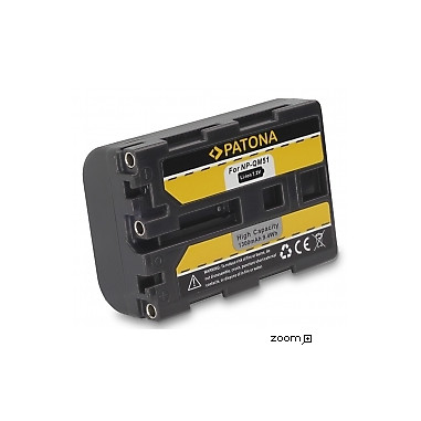 Batteri Sony NP-FM50 QM51 1300mAh 7.2V