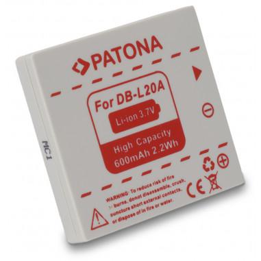 Batteri för Sanyo DB-L20A 600mAh 3.7V