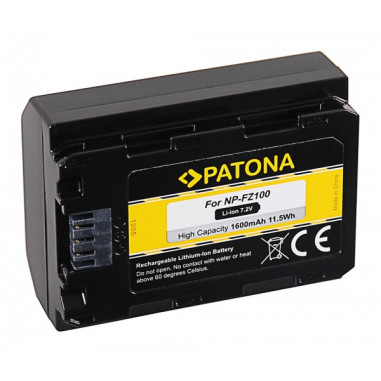 Batteri f�r Sony NP-FZ100 1600mAh 7.2V