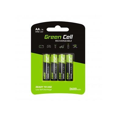 4-pack uppladdningsbara AA LR6 batterier Ni-MH 2450mAh