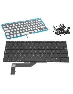 Tangentbord för MacBook Pro 15 Retina A1398 svenskt backlit