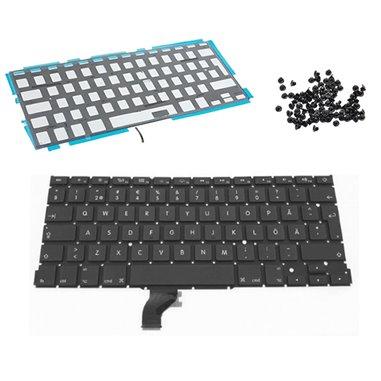 Tangentbord för MacBook Air 13 Retina A1502 svenskt backlit