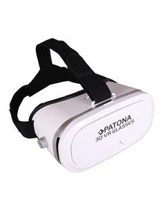 3D VR-glasögon för smartphone vit