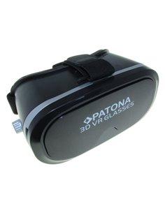 3D VR-glasögon för smartphone svart