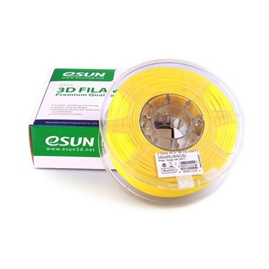 Filament eSUN 1kg PLA+ 1,75mm för 3D-skrivare gul, extra stark